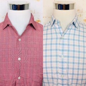Lot Of 2 J Crew Ludlow Mens Button Up Dress Shirts
